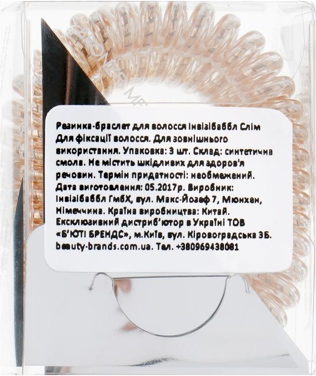 Elastico-braccialetto per capelli - Invisibobble Slim Bronze Me Pretty — foto N3