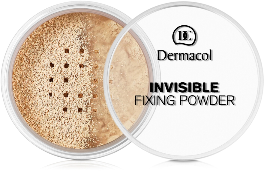 Cipria sfusa fissativa invisibile in polvere - Dermacol Invisible Fixing Powder