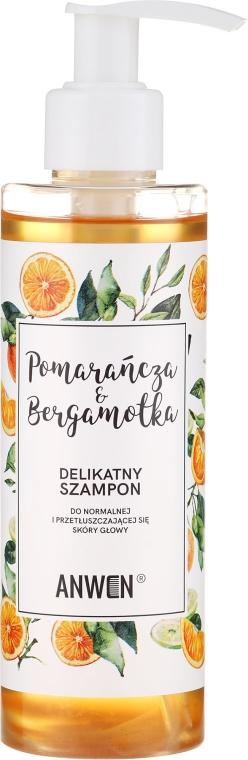 Shampoo all'arancia e bergamotto per cuoio capelluto normale e grasso - Anwen Orange and Bergamot Shampoo