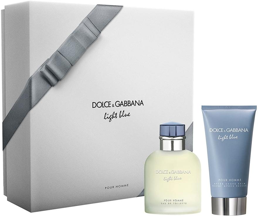 Dolce & Gabbana Light Blue Pour Homme - Set (edt/75ml + ash/balm/75ml)