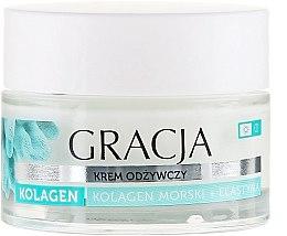 Profumi e cosmetici Crema nutriente anti-rughe con collagene marino ed elastina - Gracja Sea Collagen And Elastin Anti-Wrinkle Day/Night Cream