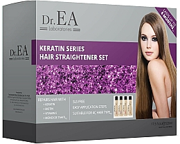 Profumi e cosmetici Set - Dr.EA Keratin Series Hair Straightener Set (hair/cr/130ml+shm/130ml+shm/130ml+mask/130ml)