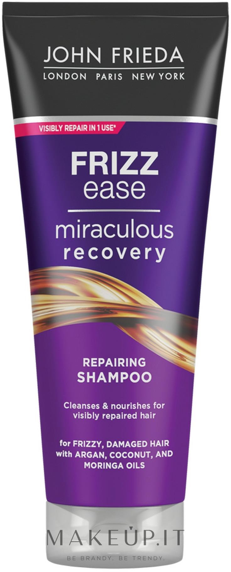 """Shampoo """"Recupero meraviglioso"""" per capelli danneggiati - John Frieda Frizz Ease Miraculous Recovery Shampoo — foto 250 ml"""