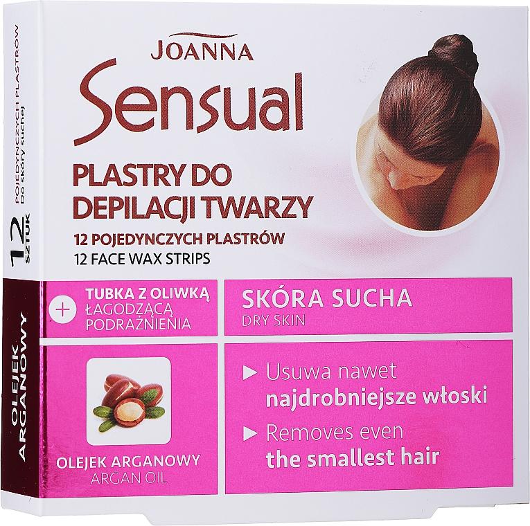 Strisce depilatorie viso, con olio di argan - Joanna Sensual Depilatory Face Strips