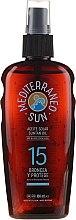 Profumi e cosmetici Olio solare - Mediterraneo Sun Coconut Suntan Oil Dark Tanning SPF15
