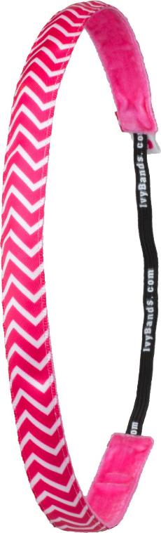 """Cerchietto-elastico per capelli """"Chevron Pink"""" - Ivybands"""