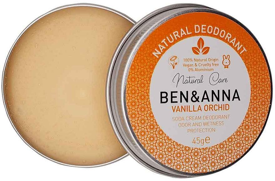 Deodorante cremoso naturale - Ben & Anna Vanilla Orchid Soda Cream Deodorant