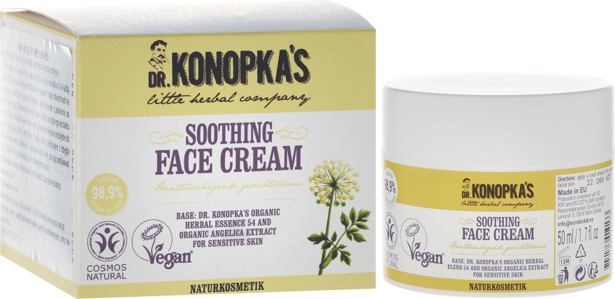 Crema lenitiva per il viso - Dr. Konopka's Soothing Face Cream
