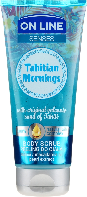 Scrub corpo - On Line Senses Body Scrub Tahitian Morning