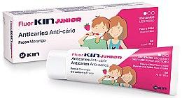 Profumi e cosmetici Gel anticari alla fragola, per bambini - Kin Fluorkin Junior Strawberry Anticaries Gel