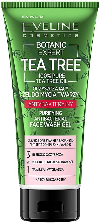 Gel viso - Eveline Cosmetics Botanic Expert Tea Tree Face Wash Gel
