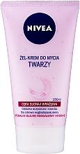 Profumi e cosmetici Crema-gel detergente delicato per pelle secca e sensibile - Nivea Visage Cleansing Soft Cream Gel