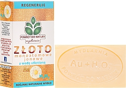 """Profumi e cosmetici Sapone naturale """"Perossido di idrogeno e oro Monoevoe"""" - Powrot do Natury Natural Soap Matt Gold and Hydrogen Peroxide"""