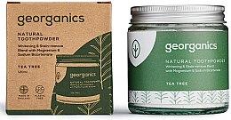 Polvere naturale sbiancante per i denti - Georganics Tea Tree Natural Toothpowder — foto N2