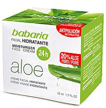 Profumi e cosmetici Crema viso idratante all'aloe vera - Babaria Aloe Vera 24-Hour Moisturising Face Cream
