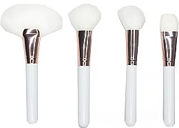 Profumi e cosmetici Set pennelli trucco occhi, bianco, 4 pezzi - Contour Cosmetics