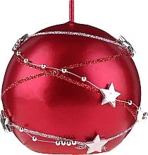 Profumi e cosmetici Candela decorativa rossa, 8 cm - Artman Christmas Garland