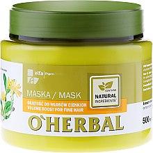 Profumi e cosmetici Maschera volumizzante - O'Herbal