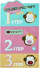 Profumi e cosmetici Kit per la cura delle labbra - Holika Holika Golden Monkey Glamour Lip 3-Step Kit