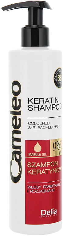 Shampoo alla cheratina per capelli colorati - Delia Cameleo Shampoo