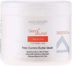 Profumi e cosmetici Maschera capelli ribelli - Alfaparf Semi di Lino Discipline Frizz Mask