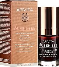 Profumi e cosmetici Crema contorno occhi con pappa reale nei liposomi - Apivita Queen Bee Holistic Age Defence Eye Cream