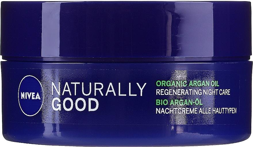 Crema rigenerante da notte per tutti i tipi di pelle - Nivea Naturally Good Night Regeneration Care