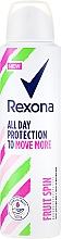 Profumi e cosmetici Deodorante antitraspirante spray - Rexona Fruit Spin Antiperspirant Deodorant Spray