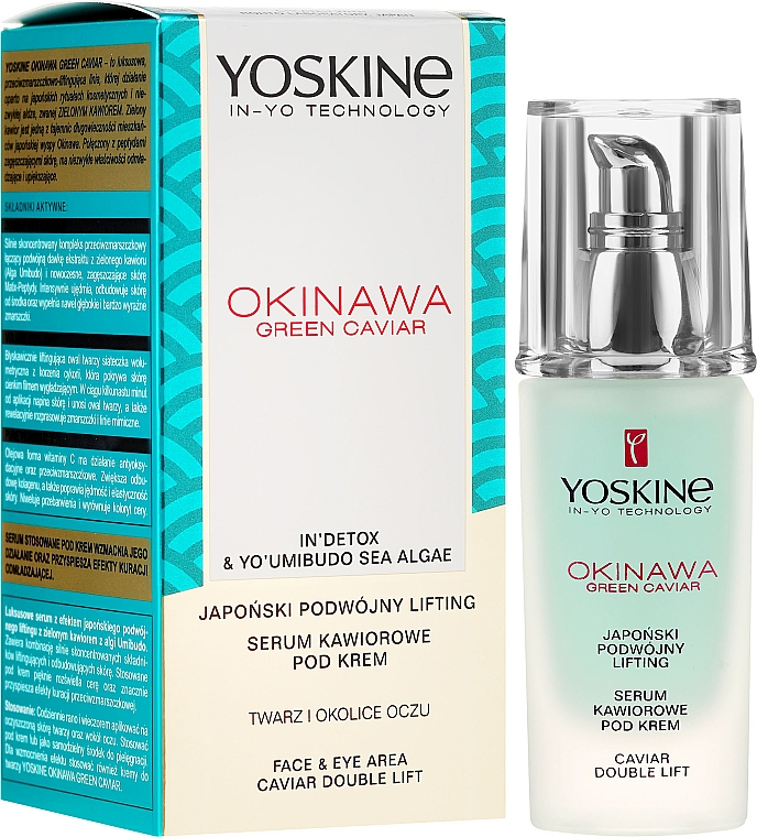 Siero-lifting viso e contorno occhi - Yoskine Okinawa Green Caviar Lifting Serum