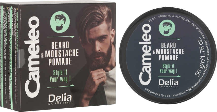 Cera per barba - Delia Cameleo Men Beard and Moustache Pomade