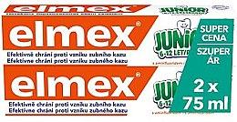 Profumi e cosmetici Set - Elmex Junior Toothpaste (2xtoothpaste/75ml)