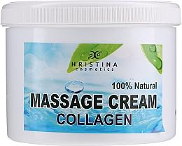 Profumi e cosmetici Crema da massaggio per viso e corpo - Hristina Cosmetics Collagen Massage Cream