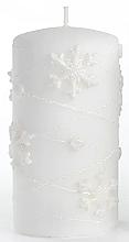 Profumi e cosmetici Candela decorativa, bianca, 7x14cm - Artman Snowflake Application