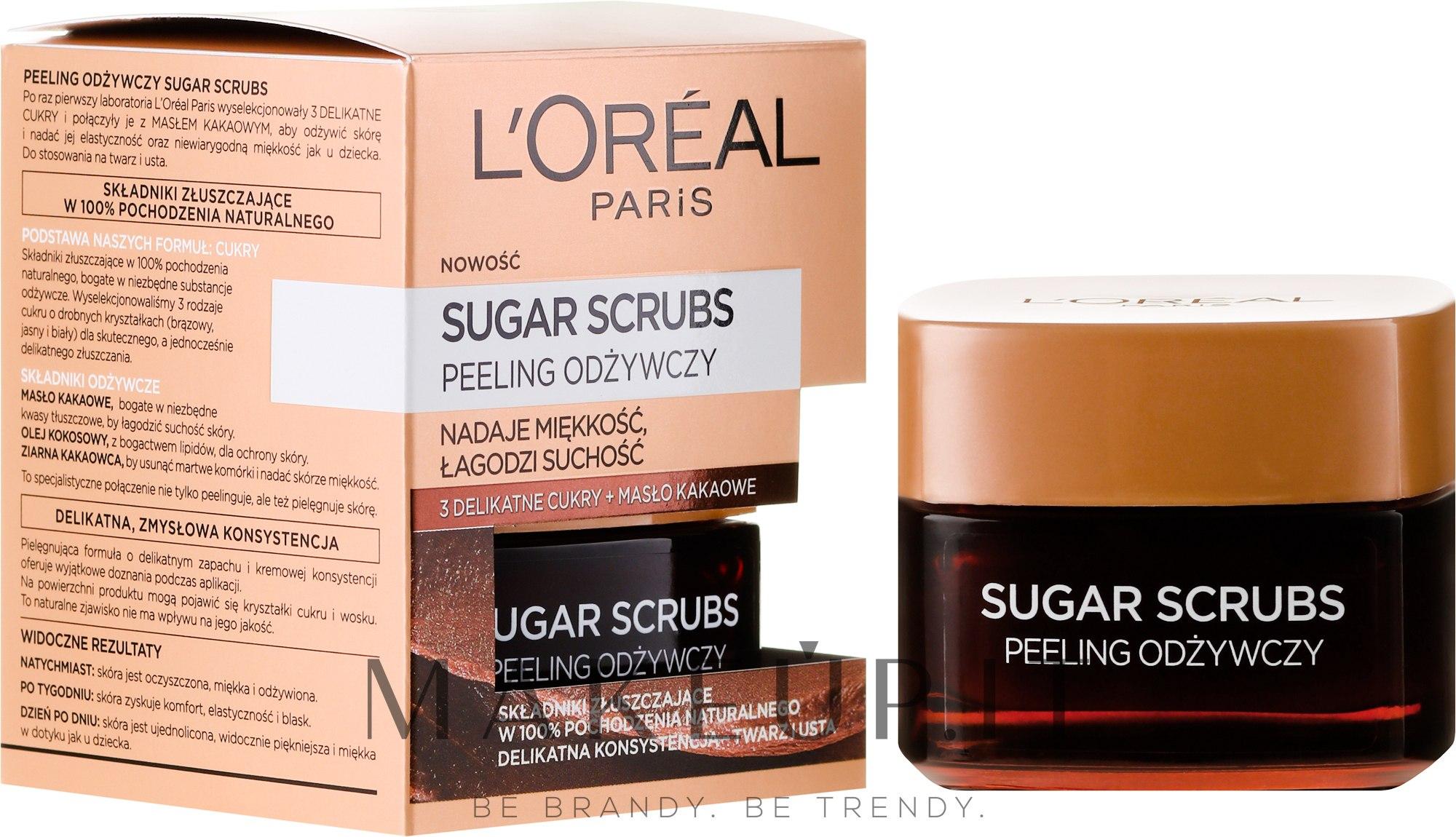 Scrub nutriente viso - L'Oreal Paris Sugar Scrubs — foto 50 ml