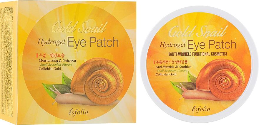 Patch occhi in idrogel alla bava di lumaca - Esfolio Gold Snail Hydrogel Eye Patch