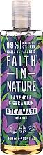 Profumi e cosmetici Gel doccia - Faith in Nature Lavender & Geranium Body Wash