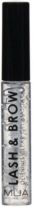 Gel per sopracciglia e ciglia - MUA Lash & Brow Clear Mascara
