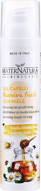 Gel-fluido al miele per capelli ricci - MaterNatura Curl Reviving Hair Gel With Honey