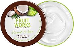 """Profumi e cosmetici Burro corpo """"Cocco e lime"""" - Grace Cole Fruit Works Body Butter Coconut & Lime"""