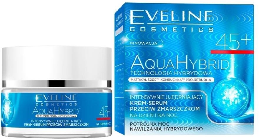 Crema-siero anti-rughe intensamente rassodante - Eveline Cosmetics Aqua Hybrid Cream-Serum 45+