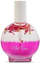 Profumi e cosmetici Olio unghie e cuticola - Kabos Nail Oil Pink Flowers