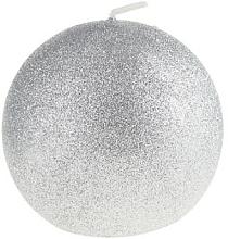 Profumi e cosmetici Candela decorativa, pallina argento, 8 cm - Artman Glamour