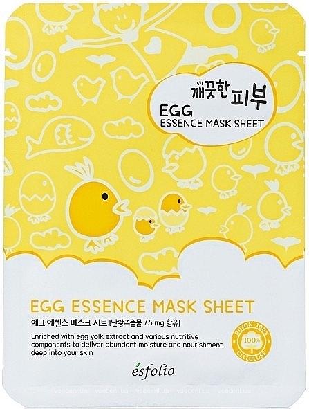 Maschera viso in tessuto all'uovo - Esfolio Pure Skin Egg Essence Mask Sheet