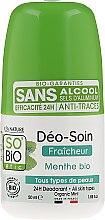 Profumi e cosmetici Deodorante roll-on con polvere di bambù - So'Bio Etic Deo Fresh Deodorant Mint All Skin Types