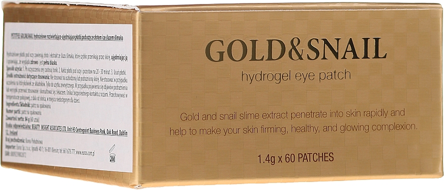 Idrogel patch contorno occhi con oro e bava di lumaca - Petitfee & Koelf Gold & Snail Hydrogel Eye Patch
