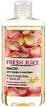 """Profumi e cosmetici Olio per la cura e il massaggio """"Rosa e Ylang-Ylang + olio di pesca"""" - Fresh Juice Energy Rose&Ilang-Ilang+Peach Oil"""