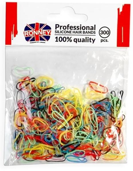 Elastici in silicone per capelli, multicolore - Ronney Professional Silicone Hair Bands