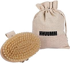 Profumi e cosmetici Spazzola da massaggio e bagno, fibra morbida, marrone chiaro - Hhuumm № 3