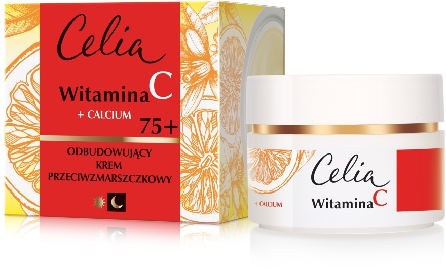 Crema viso antirughe per giorno e notte 75+ - Celia Witamina C