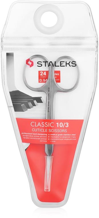Forbici per cuticole, 24 mm, SC-10/3 - Staleks Classic 10 Type 3 — foto N1